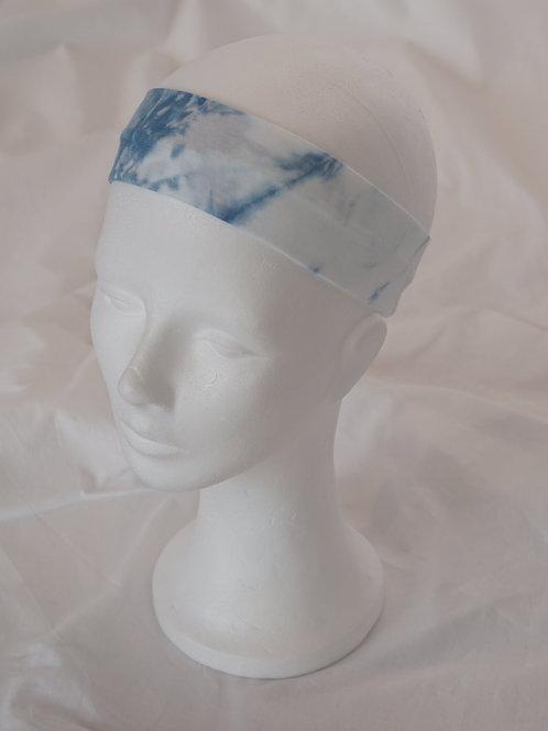 no-waste-Haarband BW-Jersey indigogefärbt 5 cm breit