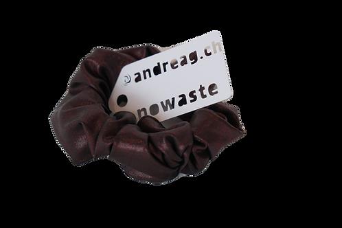 no-waste-scrunchy Glanzjersey bordeaux