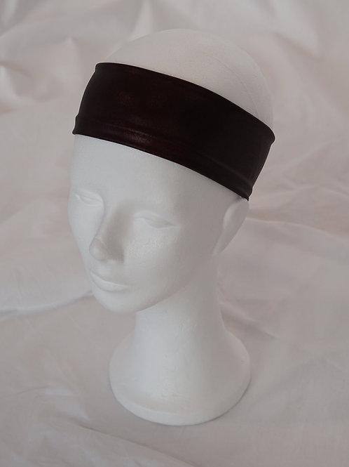 no-waste Haarband Glanzjersey bordeaux 6 cm breit