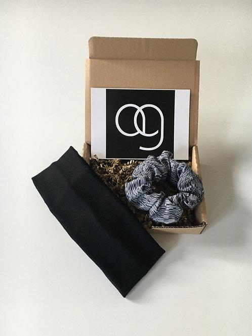 Stirnband und Haarscrunchy in der Geschenkbox