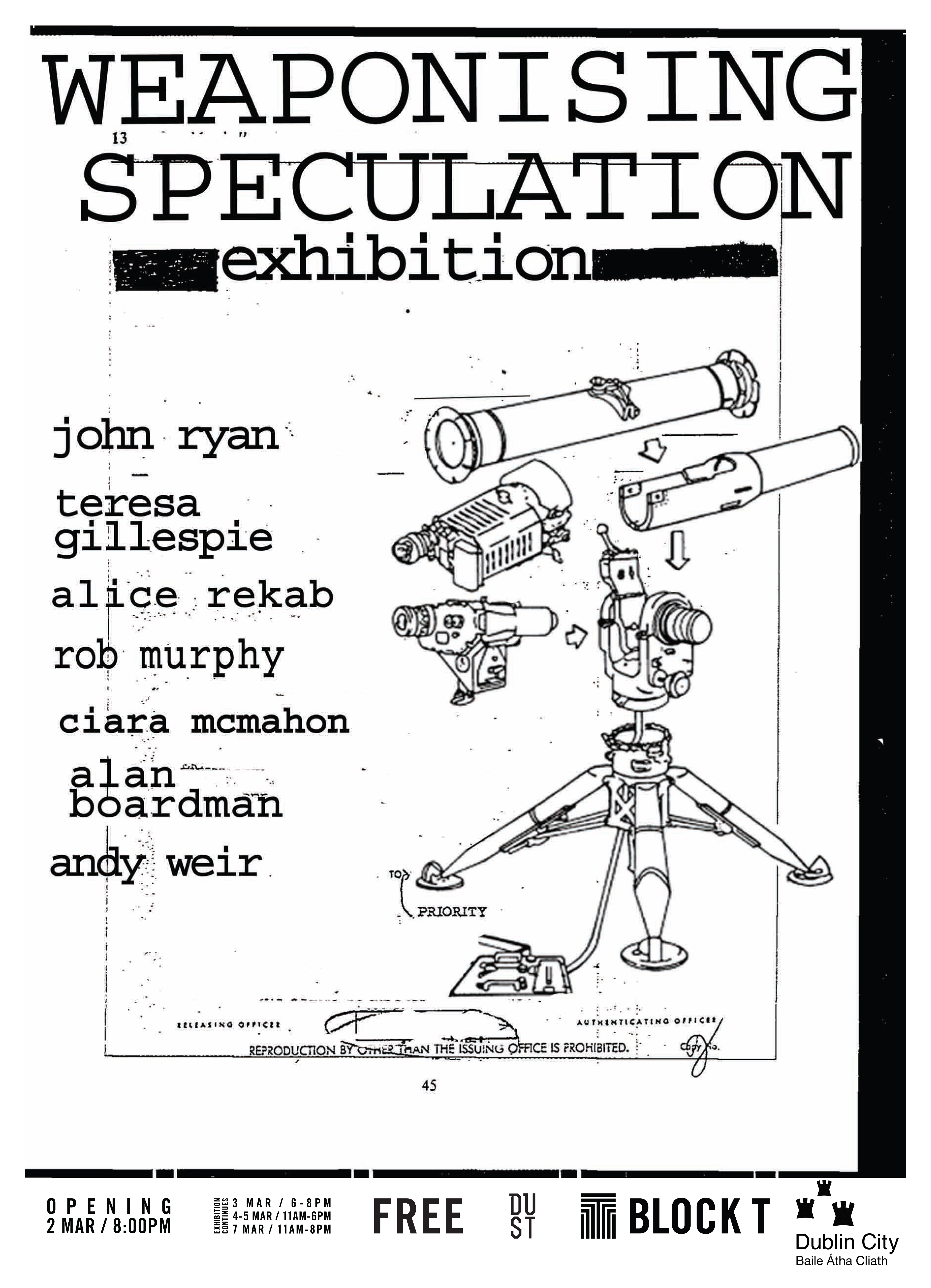 Weaponising Speculation Poster