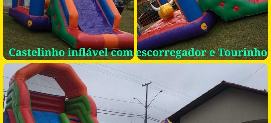 Castelinho com Escorregador Tourinho + Arco