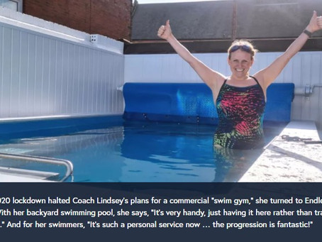 When 2020 derailed her business, Lindsey just kept swimming with Endless Pools®