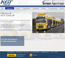 KGT Trafik AB websida