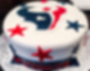 Texans Custom Decorated Birthday Cake