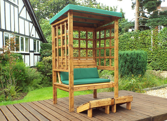 HB135G - Bramham Two Seater Arbour Green