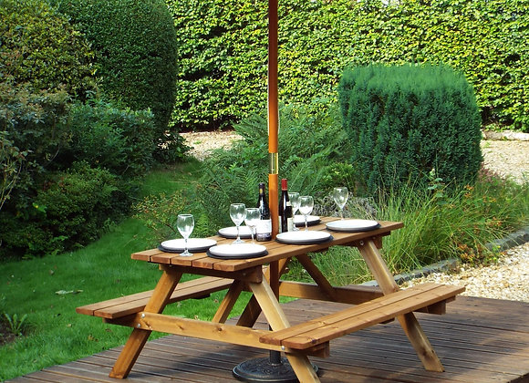 GS11 - Six Seater Picnic Table Gold Series