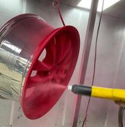 The powder coating process.