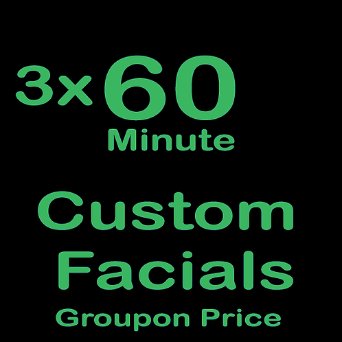 3 - 60 Minute Custom Facials