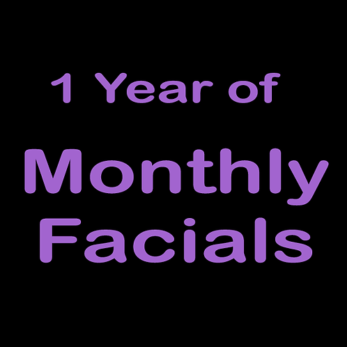 1 Year of Monthly Facials (+ $50 credit)