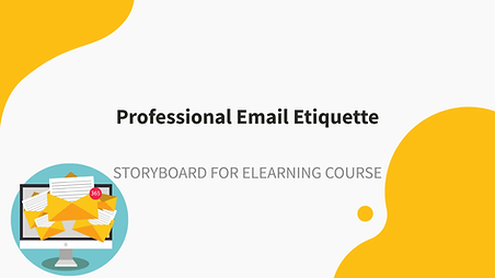 Professional Email Etiquette Storyboard.