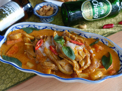Red Curry with Grilled Chicken