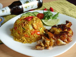 Pineapple Fried Rice with Grilled Chicken