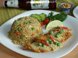 Green Curry Fried Rice with Chicken Tenders