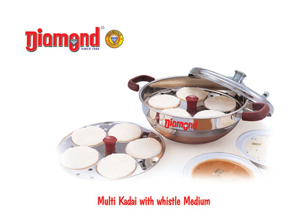 Multi Kadai With Whistle Medium