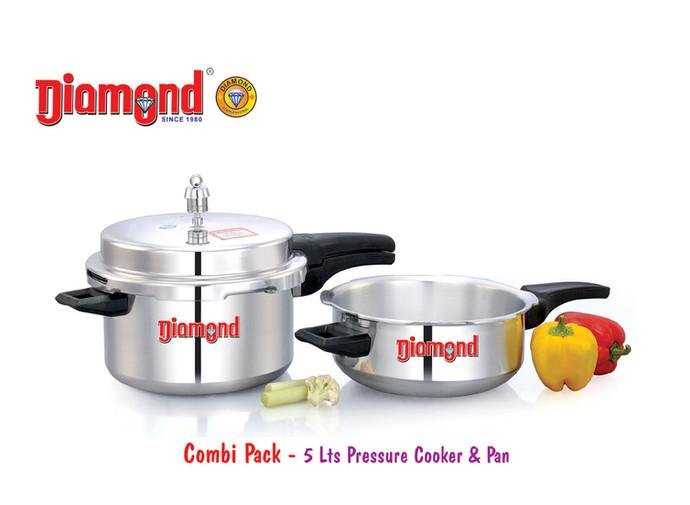 Combi Pack - 5lts Pressure Cooker & Pan