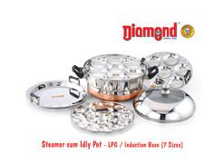 Steamer Cum Idly Pot - LPG/Induction Base (7sizes)
