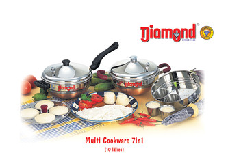 Multi Cookware 7 in 1 (10 Idlies)