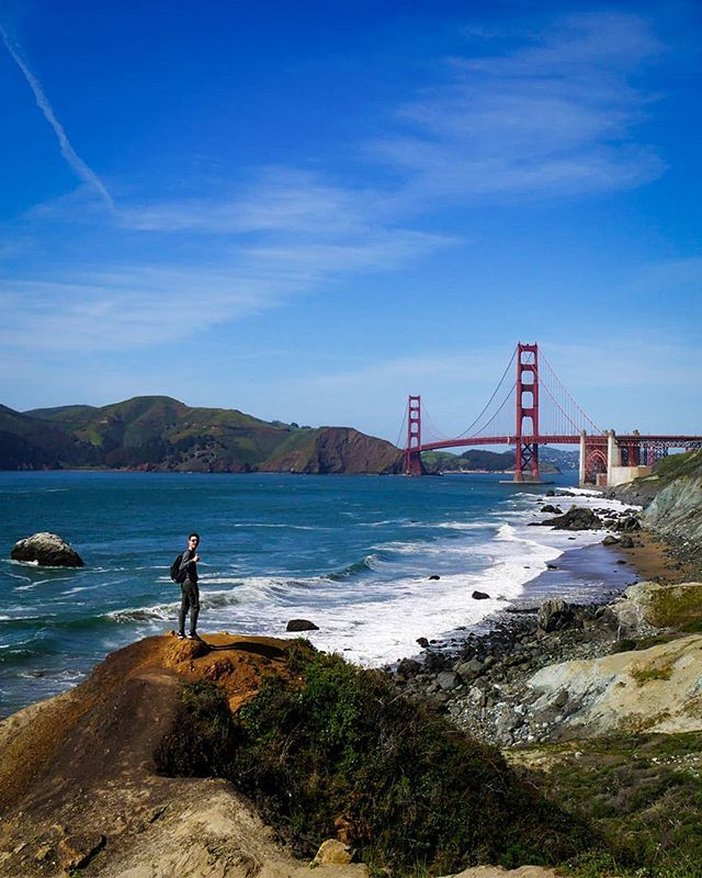 Marshall Beach is a long narrow secluded beach that stretches from the Golden Gate Bridge south to North Baker Beach.