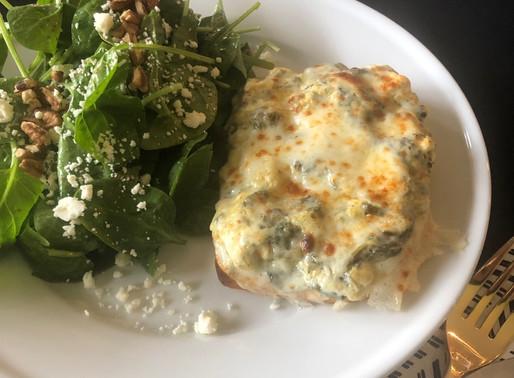 Open-Face Artichoke and Spinach Sandwich