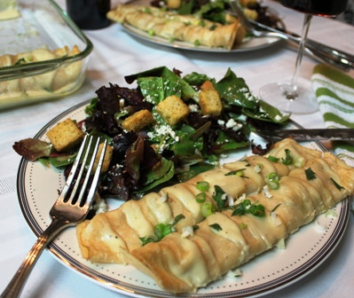 Chicken Florentine Crepes