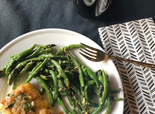 Cod with Herb-Butter Sauce and Lemon-Garlic Green Beans