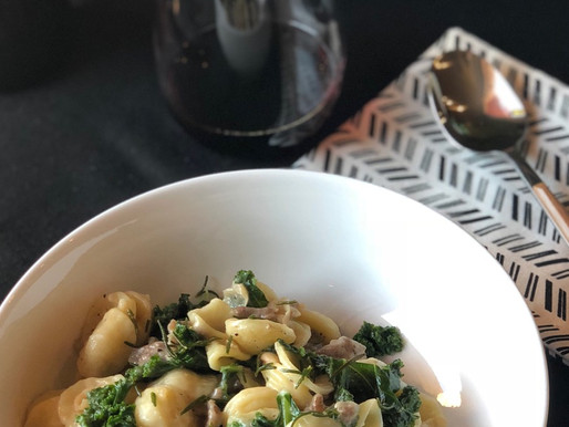 Italian Pasta, Greens, and Beans