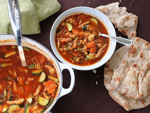 Moroccan Chicken and Vegetable Soup