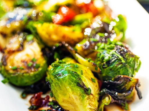 Sticky Glazed Brussels Sprouts