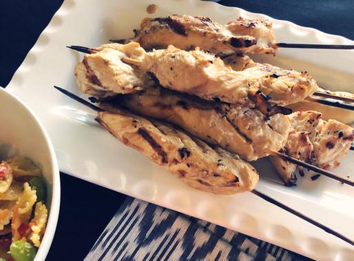 Chicken Kabobs with Peanut Sauce