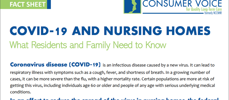 COVID-19 and Nursing Homes: What Residents and Families Need to Know