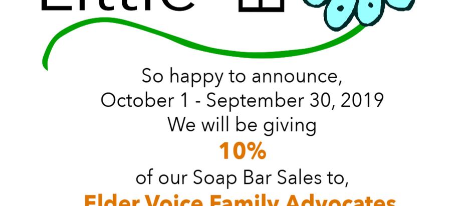 Merry Little Bath donates 10% of sales to EVFA