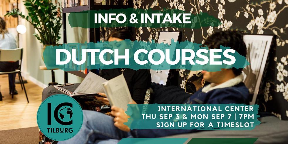 Dutch Courses | Info & Intake