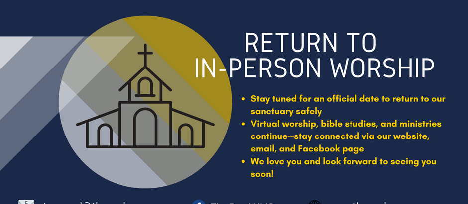 Update for In-Person Worship