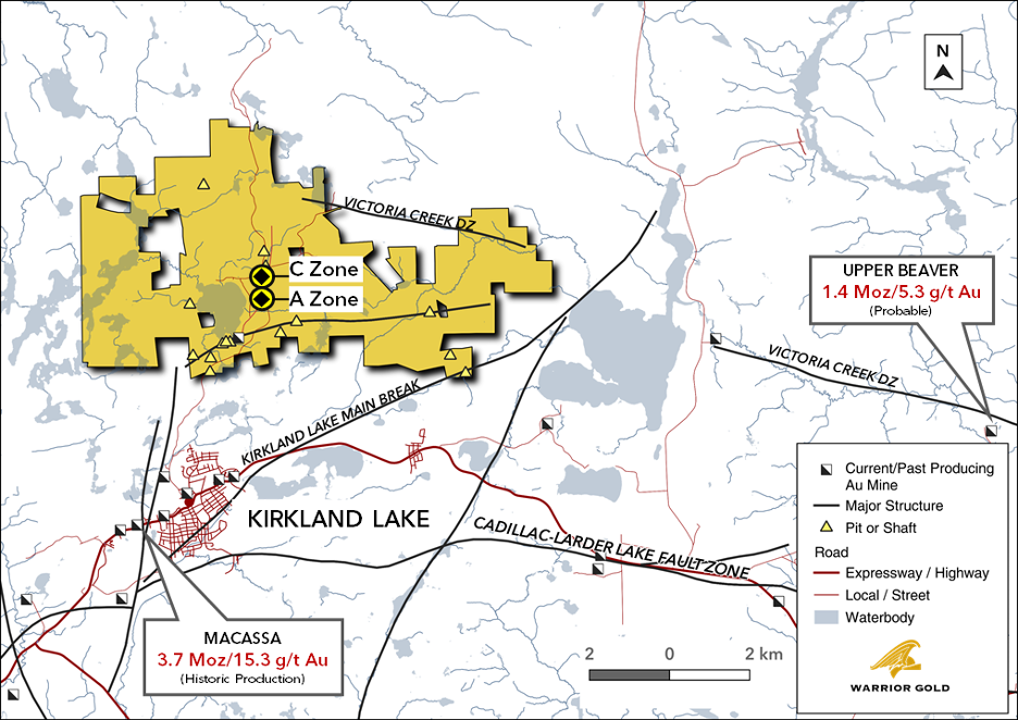 Figure 1. Goodfish-Kirana Property Location with A Zone and C Zone
