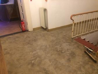 Neuer Boden im Treppenhaus des Hotel Riesenbeck