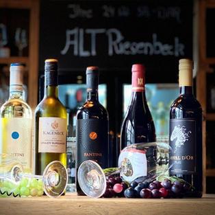 Weinauswahl im Hotel Riesenbeck