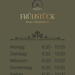 Hotel Riesenbeck Frühstückszeiten