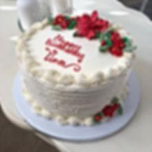 December Birthdays!  Lemon cake filled w
