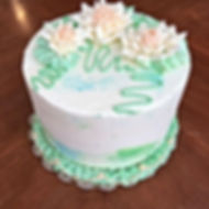 Water Lily Cake.  Www. Sweetcakes418.com
