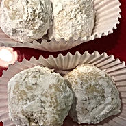 An old time favorite- pecan snowballs.
