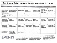 Reading For Research Month coming in March - #ReFoReMo