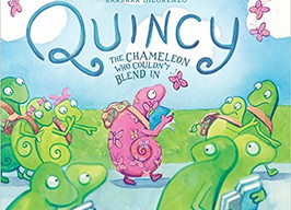 Quincy: The Chameleon Who Couldn't Blend In - Perfect Picture Book Friday #PPBF