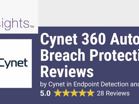 CYNET360 5-sterren beoordeling op Gartner Peer insights