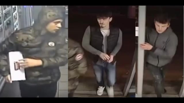 Suspects wanted in connection with theft of larger!