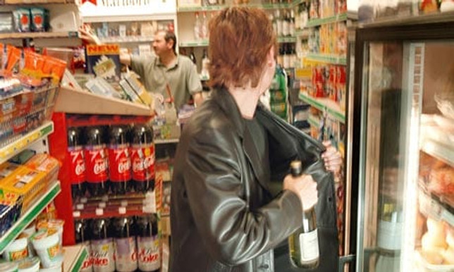 Image of shoplifter