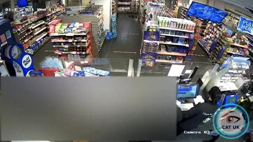 Male suspect threaten female retail worker