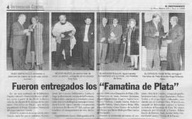 Premio Famatina de Plata. La Rioja, 1999