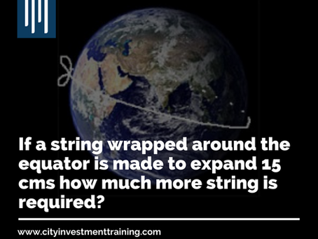If a string wrapped around the equator is made to expand 15 cms how much more string is required?