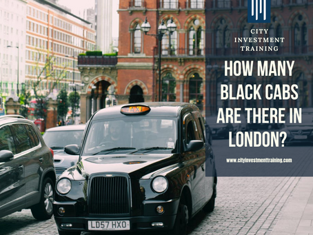How many black cabs are there in London?